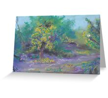 Dusk in the Grove (pastel) Greeting Card