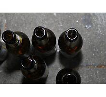 beer bottles Photographic Print