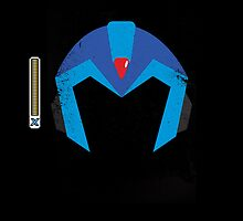 Mega Man X Helmet iPhone Case by thedailyrobot