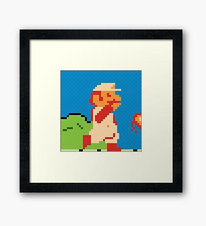 Fire Mario Framed Print
