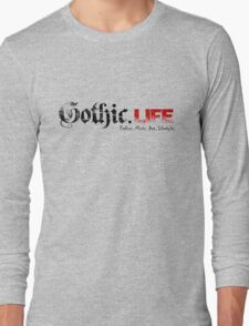 Gothic.Life Logo (White with tag) Long Sleeve T-Shirt