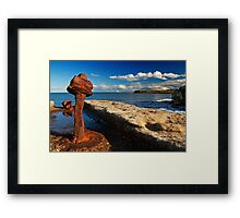 St Mary's Lighthouse from Seaton Sluice Framed Print