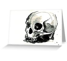 Ink Skull 3 Greeting Card