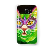 green cat Samsung Galaxy Case/Skin