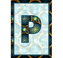 Fractal – Alphabet – P is for Patterns Photographic Print