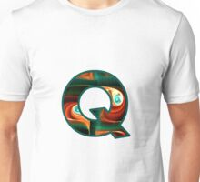 Fractal – Alphabet – Q is for Quizzical Unisex T-Shirt