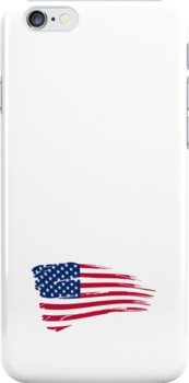 Iphone Case US flag I by Lee Eyre