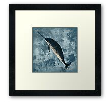 Jackson the Narwhal Framed Print