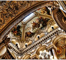Ceiling of Opéra Garnier by steeber
