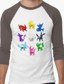 Eeveelution Men's Baseball ¾ T-Shirt