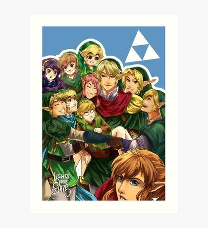 Legend of Link Art Print