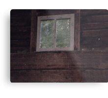 Creepy Window Metal Print