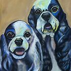 Two Cocker Spaniels by Ann Marie Hoff