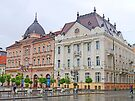 Buildings in Freedom Square, Novi Sad by Graeme  Hyde