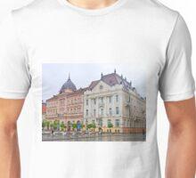 Buildings in Freedom Square, Novi Sad Unisex T-Shirt