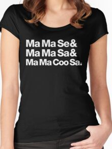 Ma Ma Se Michael Jackson Helvetica Threads Women's Fitted Scoop T-Shirt