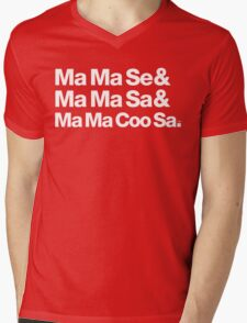 Ma Ma Se Michael Jackson Helvetica Threads Mens V-Neck T-Shirt