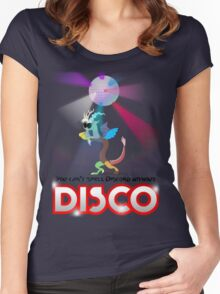 You can't spell Discord without DISCO Women's Fitted Scoop T-Shirt