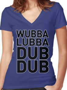 Wubbalubbadubdub Funny Women's Fitted V-Neck T-Shirt