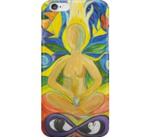 Stained Glass Yoga Meditation iPhone Case/Skin
