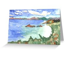 White Sands of Trunk Bay Greeting Card