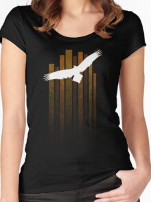 Wedge Tail Eagle - white Women's Fitted Scoop T-Shirt