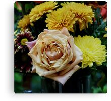 Bouquet with Rose Canvas Print