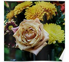 Bouquet with Rose Poster