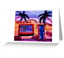 A old stucco house breaking down, watercolor Greeting Card