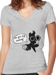Are you my mummy? Women's Fitted V-Neck T-Shirt