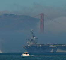 Carl V in the Golden Gate Marine Layer by Bob Moore