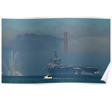 Carl V in the Golden Gate Marine Layer Poster