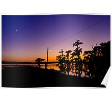 Gazing at a Bayou Sunset Poster