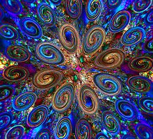 Dabs of Swirly Color  by Beatriz  Cruz