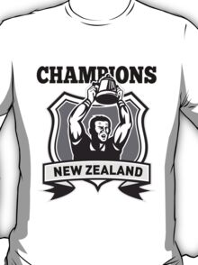 rugby player champions cup New Zealand T-Shirt
