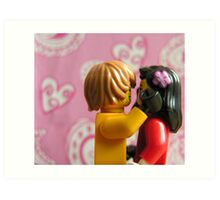 Lego in love Art Print