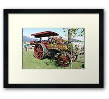Marshall Traction Engine - Wood Fired 1911 Framed Print