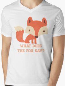 CARTOON FOX Mens V-Neck T-Shirt