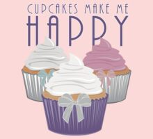 Cupcakes Make Me Happy Kids Clothes