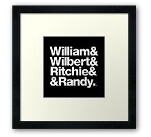 The Delfonics William & Wilbert Classic Soul Threads Framed Print