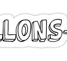French Allons-y! 3 Sticker
