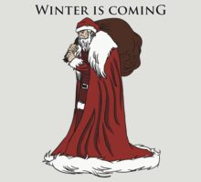 Winter is Coming, Santa Stark by Valhalla Halvorson