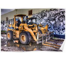 Two Dozers & an Art Wall Poster