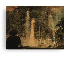 Wathing the Geyser 2 Canvas Print