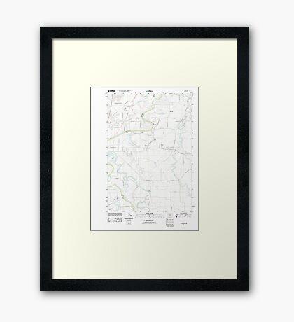 USGS Topo Map Oregon Riverside 20110831 TM Framed Print