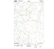 USGS Topo Map Oregon Riverside 20110831 TM Photographic Print
