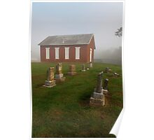 Little Red Church on the Hill Poster
