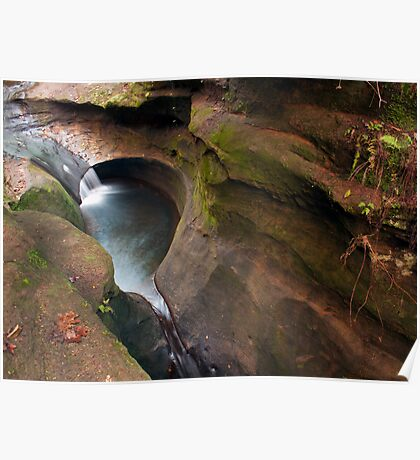 The Devil's Bathtub, Hocking Hills State Park Poster