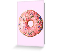 Pink Sprinkle Donut  Greeting Card