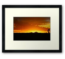 Sunset in Outback Australia Framed Print
